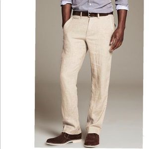 BANANA REPUBLIC COTTON LINEN PANTS